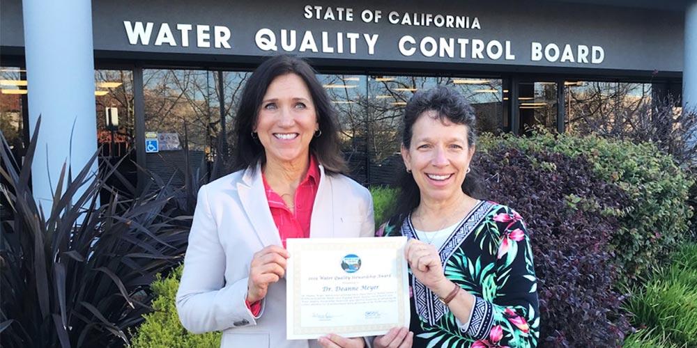 Deanne Meyer receives award