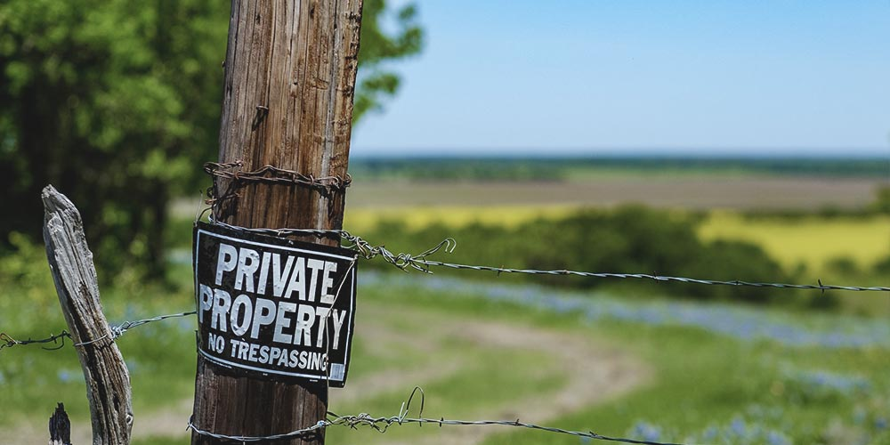 No Trespassing Private Property