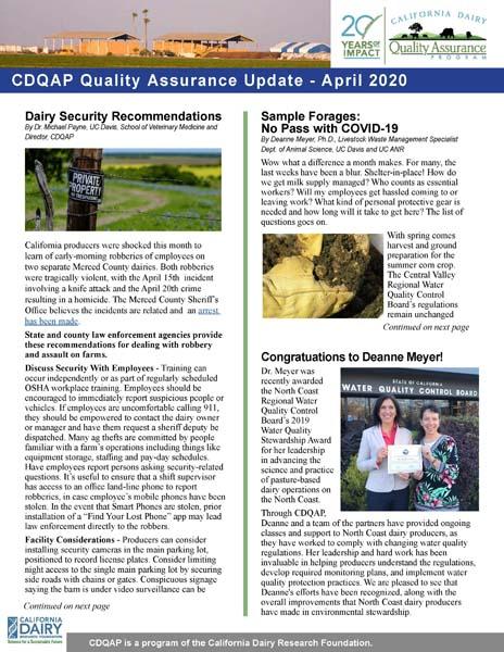 CDQAP Newsletter April 2020