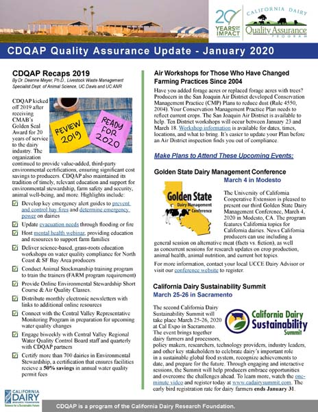 CDQAP Newsletter January 2020