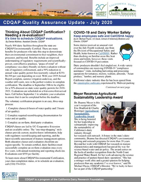 CDQAP Newsletter July 2020