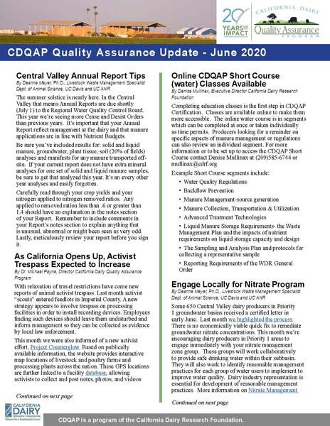 CDQAP Newsletter June 2020