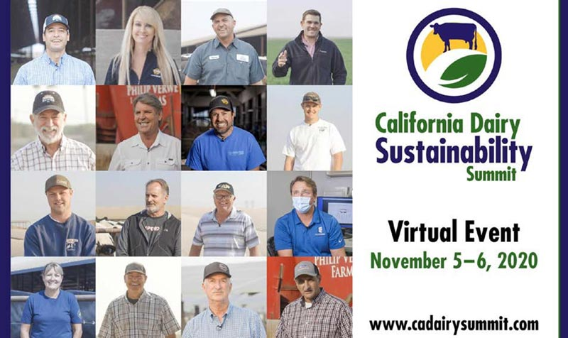 Virtual California Dairy Sustainability Summit: Nov 5-6