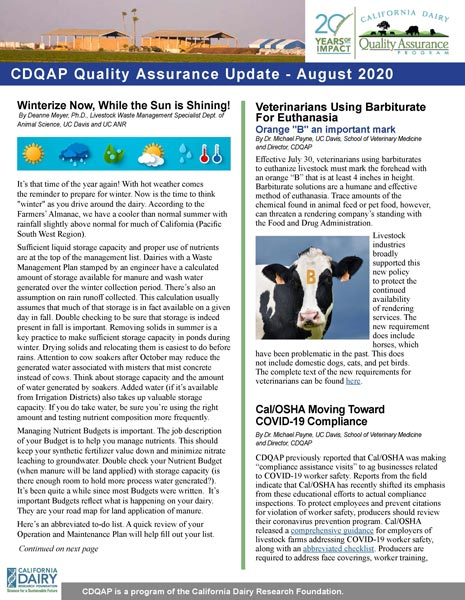 cdqap newsletter august 2020