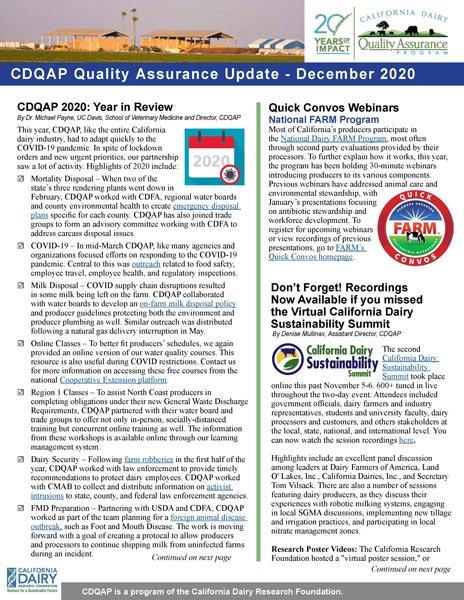 CDQAP Newsletter December 2020