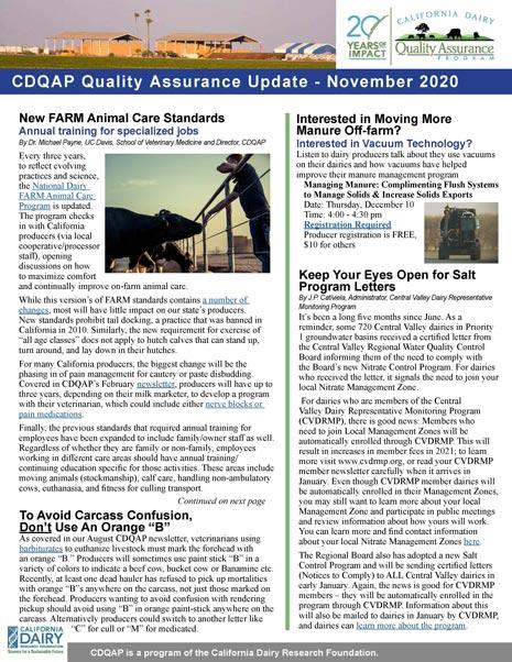 CDQAP Newsletter November 2020