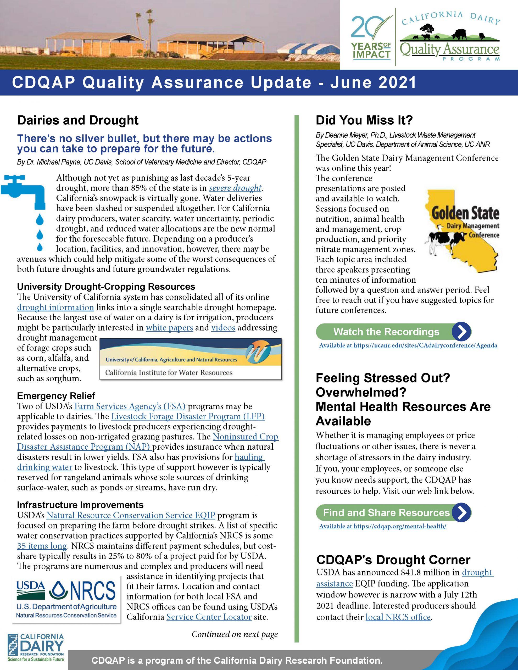 CDQAP Newsletter October 2020