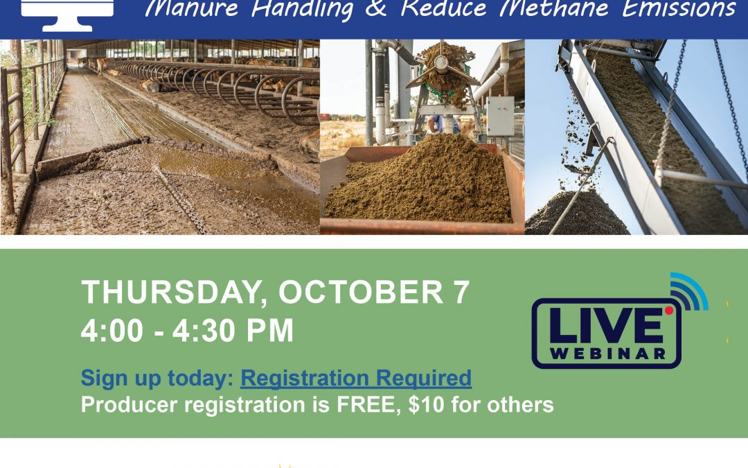 LIVE WEBINAR: How to Use AMMP Funds to Improve Manure Handling & Reduce Methane Emissions